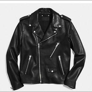 COACH Men's Motto Biker Jacket